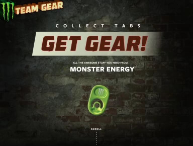 Monster Energy Gear website project preview