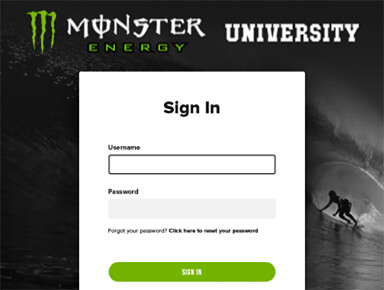 Monster University E-Learning Website
